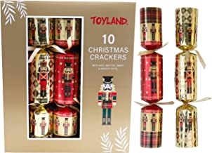 Toyland® Pack of 12 Large Luxury Soldier Christmas Crackers - Approx 33 x 5cm Crackers
