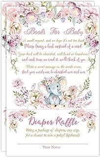 Elephant Book Request Diaper Raffle Card, Elephant Book Request Card, Elephant Diaper Raffle Card, 50 Count