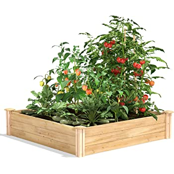 Greenes Fence 4 Ft X 8 Ft X 7 10 5 In Original Cedar Raised Garden Bed Rc 4c8t2 The Home Depot