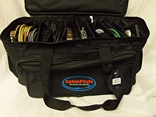 CablePhyle - Professional 12-Slot Cable File Gig Bag, for Cords, Sound Equipment, DJ Gear, Musician Accessories, CFB-LTE
