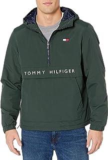 Tommy Hilfiger Men's Performance Fleece Lined Hooded Popover Jacket