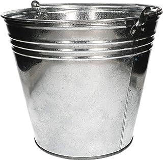KOTARBAU Seau robuste en zinc galvanisé de 15 l - Poignée simple - Seau à eau pour le jardin, la construction, les déchets...