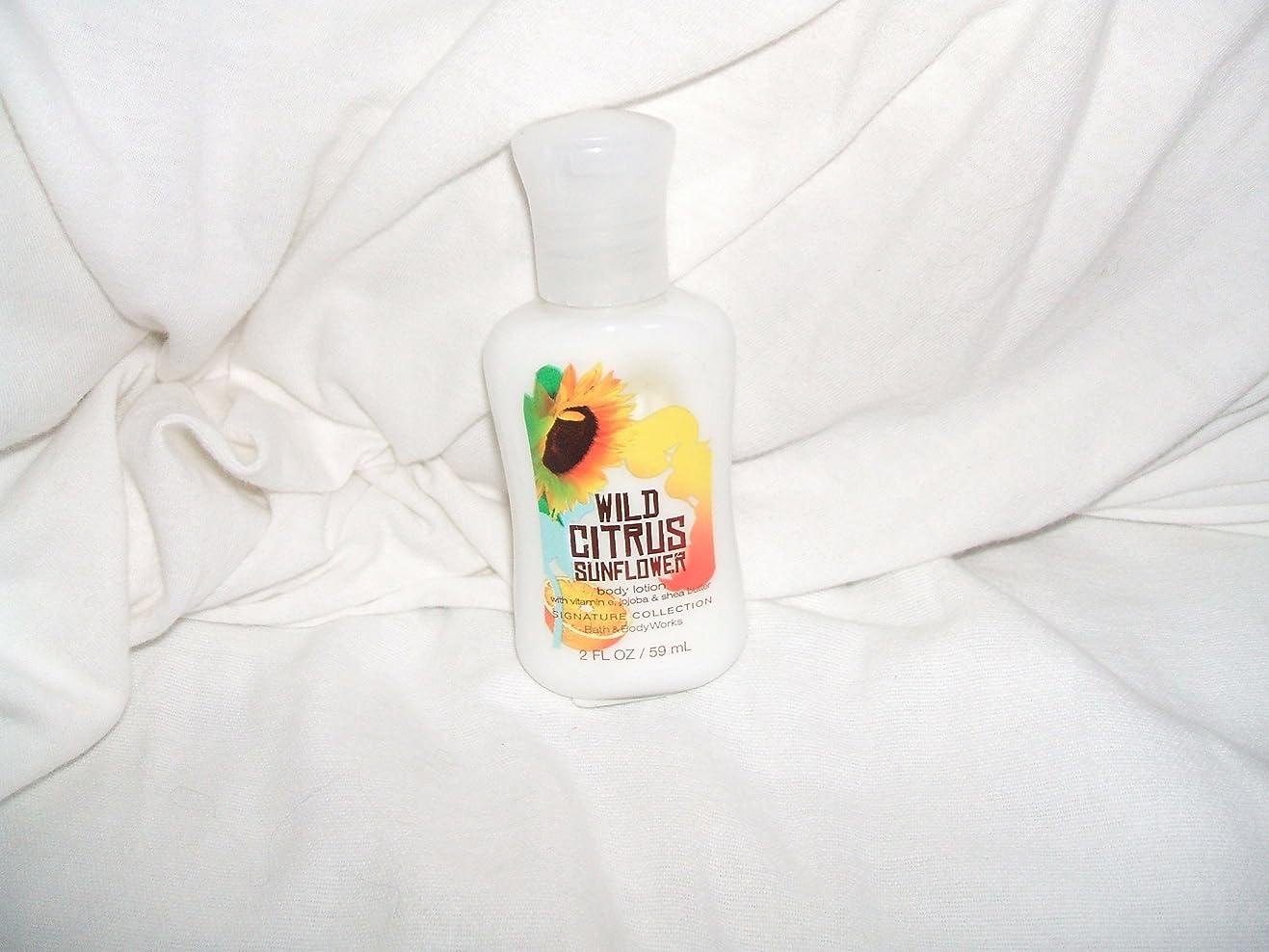 小道読むイタリアのバス&ボディワークス ワイルド シトラス サンフラワー ミニサイズ ボディローション Wild Citrus Sunflower Mini Size body lotion