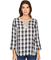Mod-o-doc - Double Sided Plaid Notch Pullover Shirt