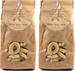 Vigne Vecchie Tarallini with Potatoes and Rosemary 8.8 oz. (2 pack), Fresh Baked Breadsticks [Imported from Italy]