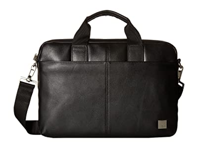 KNOMO London Brompton Classic Stanford Slim Brief (Black) Briefcase Bags