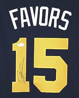 Derrick Favors Utah Jazz Signed Autographed Blue #15 Jersey JSA COA