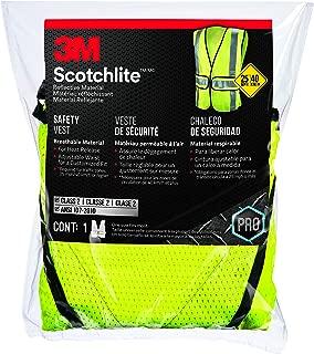3M 94617-80030-PS Reflective Clothing, Class 2 Construction Safety Vest, Hi-Viz Yellow