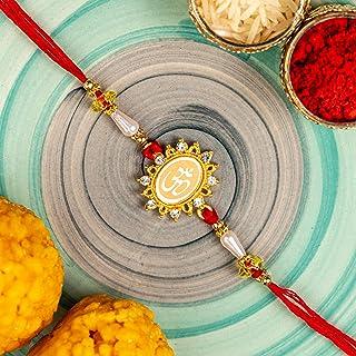 TIED RIBBONS Rakhi Bracelet for Brother - Festival Rakshabandhan Gifts for Brothers Designer Rakhi with Wishes Card