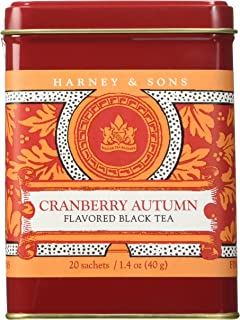 Harney & Sons Fine Teas Cranberry Autumn Black Tea Tin - 20 Sachets