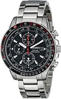 Men's Silvertone Solar Alarm Chronograph Bracelet Watch