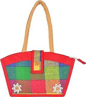 RJH Women's Jute Handbag (Multicolour, RJH 46)