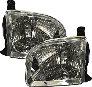 For 2001 2002 2003 2004 Toyota Sequoia   Tundra Double Cab Headlights Headlamps Pair Set Replacement TO2502144 TO2503144