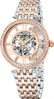 Stuhrling Original Womens Dress Watch - Skeleton Watch Self Winding Automatic Watch Mechanical Wrist Watches for Woman with Stainless Steel braclet Delphi Ladies Watches