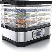 Arendo – Déshydrateur alimentaire avec contrôle de température 260 W - Déshydrateur en Inox pour viande fruits légumes - M...