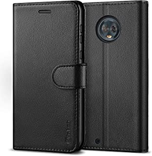 VAKOO Wallet Case for Motorola G6, Premium Flip Phone Case and PU Leather Cover for Moto G6 (5.7 inches) Black
