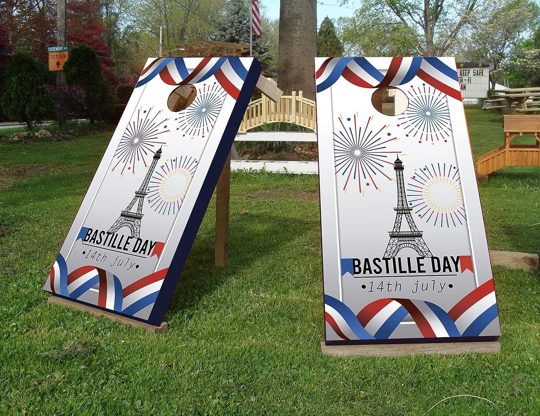 Bargain sale Bastille Day Paris Custom Challenge the lowest price Cornhole Wraps Skin Boards Decal - for
