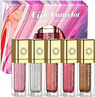Glittery Liquid Eyeshadow –5 Colors Sparking Long-Lasting Waterproof Highlighter Makeup Eye Shadow Set