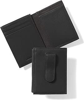 Men's Money Clip Card Holder Wallet with ID Window