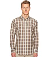 eleventy - Linen Plaid Snap Western Shirt