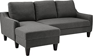 Ashley Furniture Signature Design - Jarreau Contemporary Upholstered Sofa Chaise Sleeper - Gray