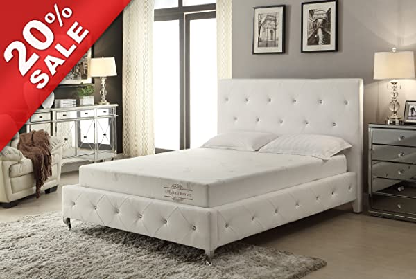 8 Inch High Density Memory Foam Mattress Queen Size With Aloe Vera Cover