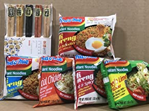 KC Commerce Indomie Instant Noodle Variety Pack (Pack of 30) Come With FREE Bamboo Chopsticks