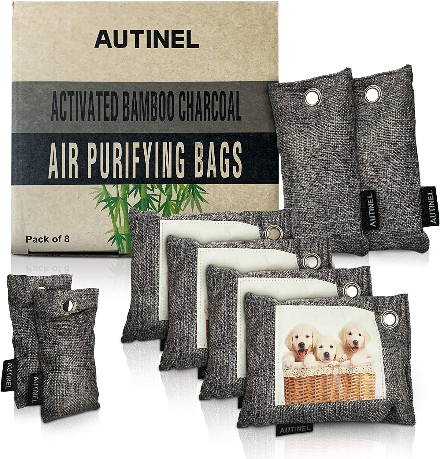 Autinel 8 Pack - Bamboo Charcoal Air Special sale item X Purifying 2 Ranking integrated 1st place Bags 4 200g