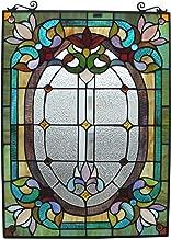 Fine Art Lighting JP93 204 Glass Cuts Tiffany Window Panel, 18 x 24, Multicolor
