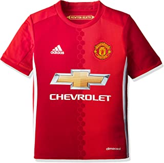 Adidas Adidas Manchester United FC Official 2016/17 SS Home Jersey - Youth - Red -