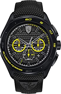 Scuderia Ferrari Men's Quartz Watch, Analogue Classic Display and Silicone Strap 0830345