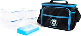 Urban Lifters Meal Prep Bag. Lightweight + High Quality Bag complete with 4 containers + ice pack. Ideal for Meal Management. Insulated food storage, ergonomic shoulder strap. For Athletes on the go.