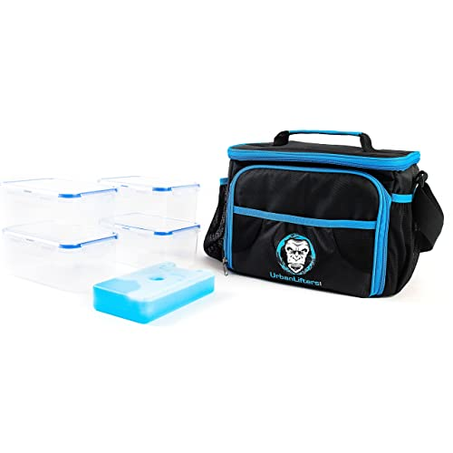c78dc8afe53 Urban Lifters Meal Prep Bag. Lightweight Bag complete with 4 containers +  ice pack.