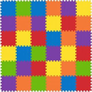 Non-Toxic Kids Play Mat - Foam Puzzle Mat for Play & Exercise 36 Tiles 12x12in 3/8 inch (10mm) - Total Floor Coverage 36 Sq Ft