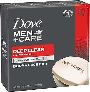 Dove Men+Care Body and Face Bar, Deep Clean, 4 oz, 10 Bar