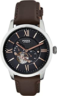Fossil Men's Townsman Analog Mechanical Hand Wind Brown Watch, (ME3061)