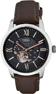 Fossil Men's Townsman Analog Mechanical Hand Wind Brown Watch, (ME3061)