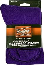 Rawlings Baseball Socks 2 Pair (Medium/Purple)