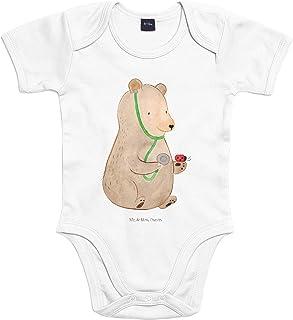 Mr. & Mrs. Panda Mr. & Mrs. Panda Unisex, Baby, 6-12 Monate Baby Body Bär Arzt - Farbe Transparent
