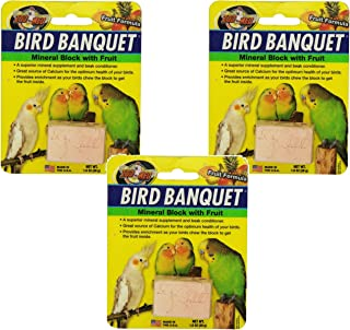 Zoo Med Laboratories Bird Banquet Fruit Mineral Blocks, Small (3 Pack)