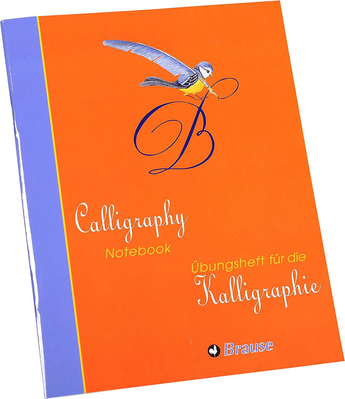 alemán/Inglés de caligrafía Brause práctica libro
