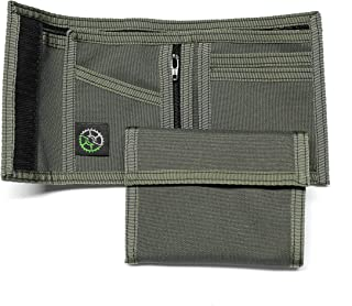 Nylon Billfold Wallet with Zippered Coin Pocket