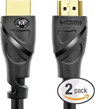 Mediabridge HDMI Cable (25 Feet) Supports 4K@60Hz, High Speed, Hand-Tested, HDMI 2.0 Ready - UHD, 18Gbps, Audio Return Channel - 2 Pack (Part# 91-02X-25X2 )