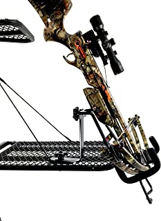 Crossbow Holder for Tree Stand | Double Drop Tine Crossbow Rack Bow Holder | Durable Solid Steel and