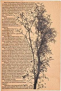 MissOrange『木製ゴム印』大きいサイズ クリエイティブスタンプ クラフトカード スクラップブッキング 手帳用 M-42 (Tree)