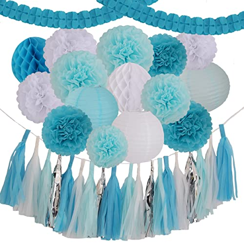 Light Blue Party Decorations Amazon