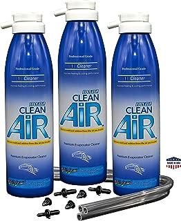 DWD2 Clean AIR Premium Automotive Foaming AC Evaporator Coil Cleaner (Regular) Renew Your air Conditioner! (3 Pack)