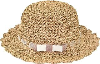 Niñas Bebé Sombrero de Paja Sombrero para el Sol Verano Plegable Protección UV Vacaciones Gorro de Playa Dulce y Encantado...