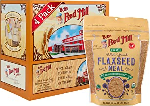 Bob's Red Mill Organic Brown Flaxseed Meal, 16-ounce (Pack of 4)
