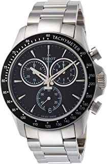 V8 T106.417.11.051.00 Black/Silver Stainless Steel Analog Quartz Men's Watch